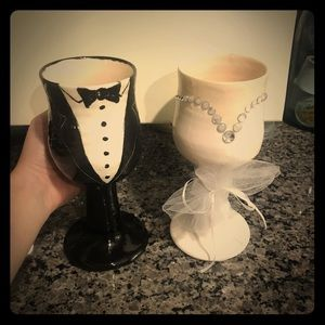 Handmaid Wedding Glasses